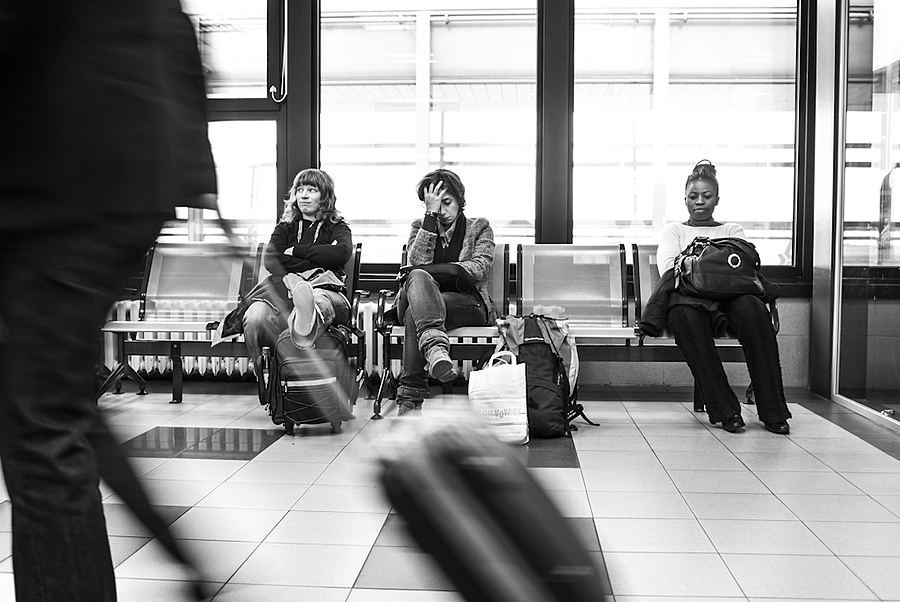 Airport people | LEICA X1 ELMARIT 24MM F/2.8 ASPH <br> Click image for more details, Click <b>X</b> on top right of image to close
